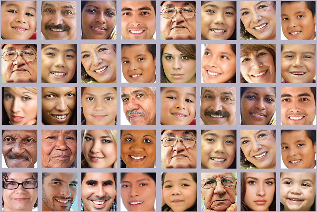 Latino faces photo images