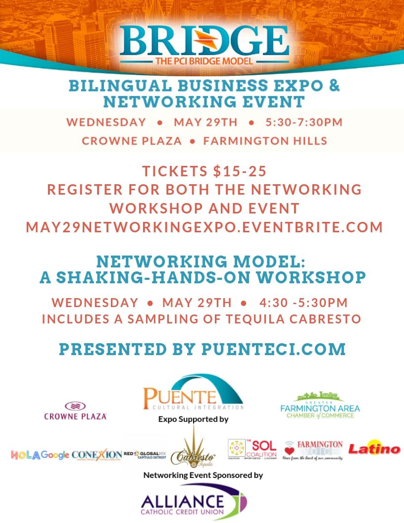 Tickets $15-25 Register for both the Networking workshop and event may29networkingexpo.eventbrite.com